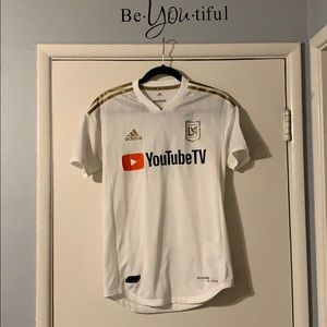 Authentic LAFC ADIDAS Soccer Jersey White/Gold